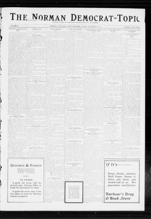 Primary view of object titled 'The Norman Democrat-Topic (Norman, Okla.), Vol. 24, No. 39, Ed. 1 Friday, September 26, 1913'.