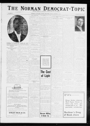 Primary view of object titled 'The Norman Democrat-Topic (Norman, Okla.), Vol. 24, No. 42, Ed. 1 Friday, October 17, 1913'.