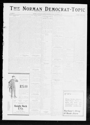 Primary view of object titled 'The Norman Democrat-Topic (Norman, Okla.), Vol. 24, No. 45, Ed. 1 Friday, November 7, 1913'.