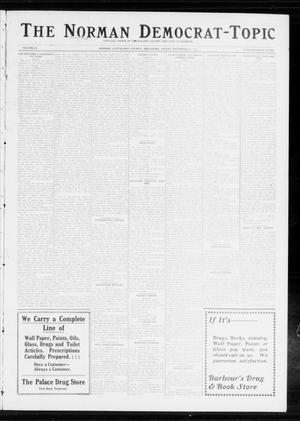 Primary view of object titled 'The Norman Democrat-Topic (Norman, Okla.), Vol. 24, No. 47, Ed. 1 Friday, November 21, 1913'.