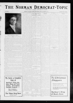 Primary view of object titled 'The Norman Democrat-Topic (Norman, Okla.), Vol. 24, No. 48, Ed. 1 Friday, November 28, 1913'.