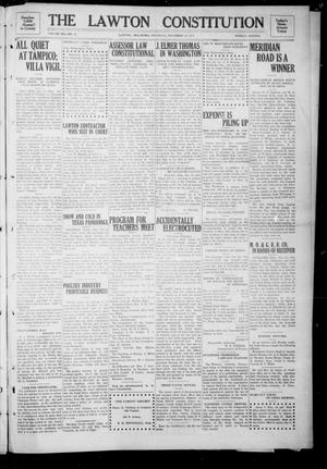 Primary view of object titled 'The Lawton Constitution (Lawton, Okla.), Vol. 12, No. 21, Ed. 1 Thursday, December 18, 1913'.