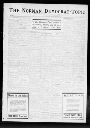 Primary view of object titled 'The Norman Democrat-Topic (Norman, Okla.), Vol. 25, No. 1, Ed. 1 Friday, January 2, 1914'.