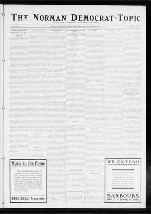 Primary view of object titled 'The Norman Democrat-Topic (Norman, Okla.), Vol. 25, No. 4, Ed. 1 Friday, January 23, 1914'.