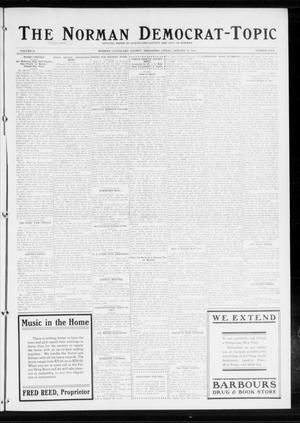 Primary view of object titled 'The Norman Democrat-Topic (Norman, Okla.), Vol. 25, No. 5, Ed. 1 Friday, January 30, 1914'.