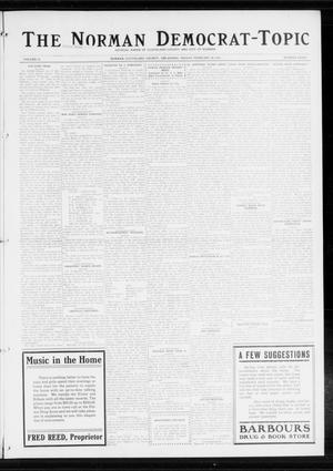 Primary view of object titled 'The Norman Democrat-Topic (Norman, Okla.), Vol. 25, No. 8, Ed. 1 Friday, February 20, 1914'.