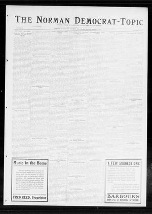 Primary view of object titled 'The Norman Democrat-Topic (Norman, Okla.), Vol. 25, No. 10, Ed. 1 Friday, March 6, 1914'.