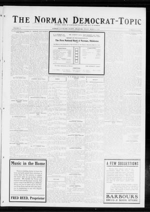 Primary view of object titled 'The Norman Democrat-Topic (Norman, Okla.), Vol. 25, No. 11, Ed. 1 Friday, March 13, 1914'.