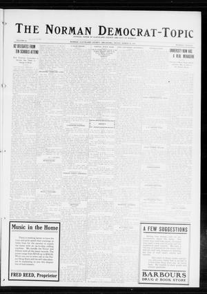 Primary view of object titled 'The Norman Democrat-Topic (Norman, Okla.), Vol. 25, No. 12, Ed. 1 Friday, March 20, 1914'.