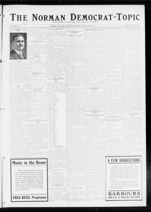 Primary view of object titled 'The Norman Democrat-Topic (Norman, Okla.), Vol. 25, No. 22, Ed. 1 Wednesday, May 20, 1914'.