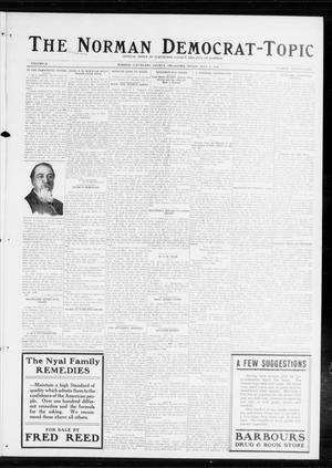 Primary view of object titled 'The Norman Democrat-Topic (Norman, Okla.), Vol. 25, No. 29, Ed. 1 Friday, July 17, 1914'.