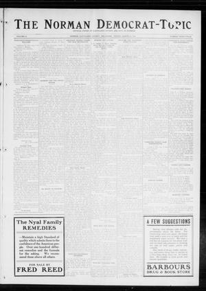 Primary view of object titled 'The Norman Democrat-Topic (Norman, Okla.), Vol. 25, No. 34, Ed. 1 Friday, August 21, 1914'.