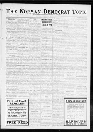 Primary view of object titled 'The Norman Democrat-Topic (Norman, Okla.), Vol. 25, No. 35, Ed. 1 Friday, August 28, 1914'.