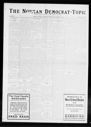 Primary view of object titled 'The Norman Democrat-Topic (Norman, Okla.), Vol. 25, No. 36, Ed. 1 Friday, September 4, 1914'.