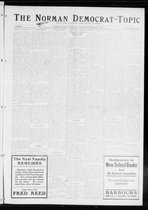 Primary view of object titled 'The Norman Democrat-Topic (Norman, Okla.), Vol. 25, No. 39, Ed. 1 Friday, September 25, 1914'.