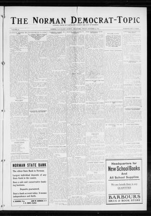 Primary view of object titled 'The Norman Democrat-Topic (Norman, Okla.), Vol. 25, No. 43, Ed. 1 Friday, October 23, 1914'.