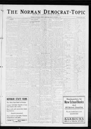 Primary view of object titled 'The Norman Democrat-Topic (Norman, Okla.), Vol. 25, No. 46, Ed. 1 Friday, November 13, 1914'.