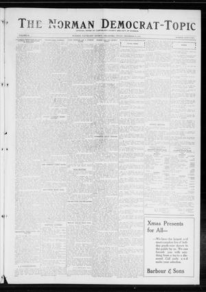 Primary view of object titled 'The Norman Democrat-Topic (Norman, Okla.), Vol. 25, No. 52, Ed. 1 Friday, December 25, 1914'.