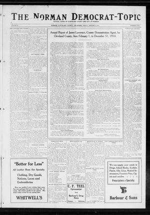 Primary view of object titled 'The Norman Democrat-Topic (Norman, Okla.), Vol. 26, No. 2, Ed. 1 Friday, January 8, 1915'.