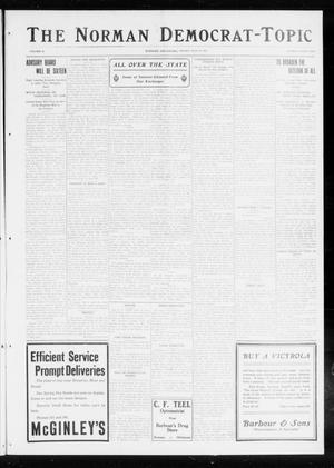 Primary view of object titled 'The Norman Democrat-Topic (Norman, Okla.), Vol. 26, No. 30, Ed. 1 Friday, July 23, 1915'.