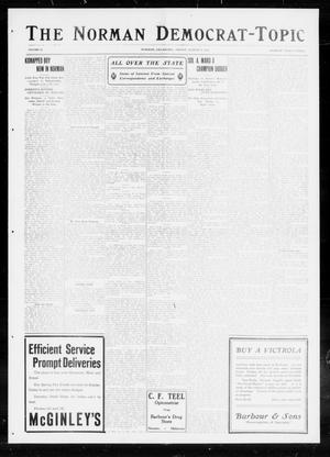 Primary view of object titled 'The Norman Democrat-Topic (Norman, Okla.), Vol. 26, No. 33, Ed. 1 Friday, August 6, 1915'.