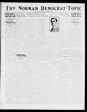 Primary view of object titled 'The Norman Democrat-Topic (Norman, Okla.), Vol. 27, No. 30, Ed. 1 Friday, July 14, 1916'.