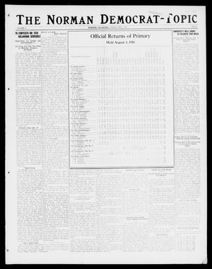 Primary view of object titled 'The Norman Democrat-Topic (Norman, Okla.), Vol. 27, No. 33, Ed. 1 Friday, August 4, 1916'.