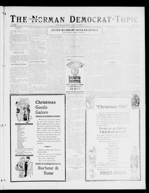 Primary view of object titled 'The Norman Democrat-Topic (Norman, Okla.), Vol. 27, No. 51, Ed. 1 Friday, December 15, 1916'.