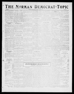 Primary view of object titled 'The Norman Democrat-Topic (Norman, Okla.), Vol. 28, No. 3, Ed. 1 Friday, January 5, 1917'.