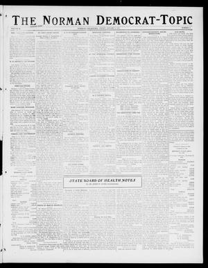 Primary view of object titled 'The Norman Democrat-Topic (Norman, Okla.), Vol. 28, No. 4, Ed. 1 Friday, January 12, 1917'.