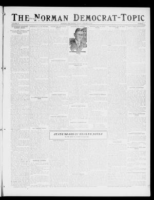 Primary view of object titled 'The Norman Democrat-Topic (Norman, Okla.), Vol. 28, No. 5, Ed. 1 Friday, January 19, 1917'.