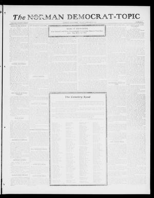 Primary view of object titled 'The Norman Democrat--Topic (Norman, Okla.), Vol. 28, No. 6, Ed. 1 Friday, January 26, 1917'.