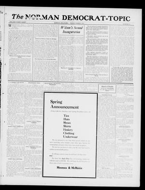 Primary view of object titled 'The Norman Democrat--Topic (Norman, Okla.), Vol. 28, No. 12, Ed. 1 Friday, March 9, 1917'.