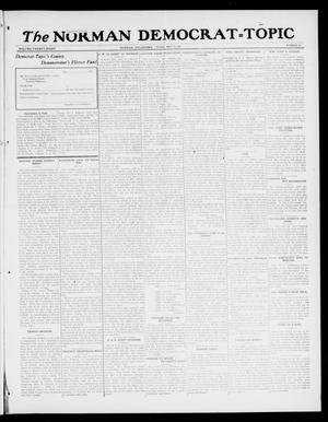 Primary view of object titled 'The Norman Democrat--Topic (Norman, Okla.), Vol. 28, No. 23, Ed. 1 Friday, May 25, 1917'.