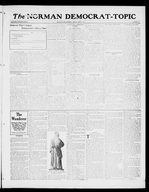 Primary view of object titled 'The Norman Democrat--Topic (Norman, Okla.), Vol. 28, No. 25, Ed. 1 Friday, June 8, 1917'.