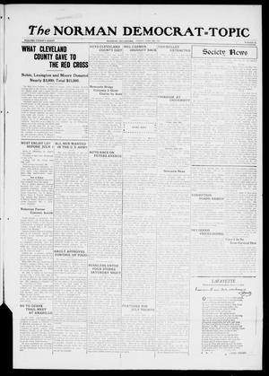 Primary view of object titled 'The Norman Democrat--Topic (Norman, Okla.), Vol. 28, No. 28, Ed. 1 Friday, June 29, 1917'.