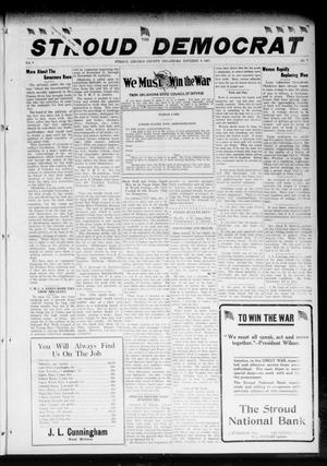 Primary view of object titled 'The Stroud Democrat (Stroud, Okla.), Vol. 8, No. 7, Ed. 1 Friday, November 9, 1917'.