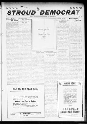 Primary view of object titled 'The Stroud Democrat (Stroud, Okla.), Vol. 8, No. 14, Ed. 1 Friday, December 28, 1917'.