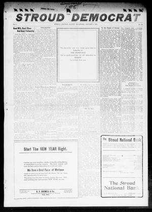 Primary view of object titled 'The Stroud Democrat (Stroud, Okla.), Vol. 8, No. 15, Ed. 1 Friday, January 4, 1918'.