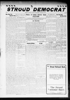 Primary view of object titled 'The Stroud Democrat (Stroud, Okla.), Vol. 8, No. 17, Ed. 1 Friday, January 18, 1918'.