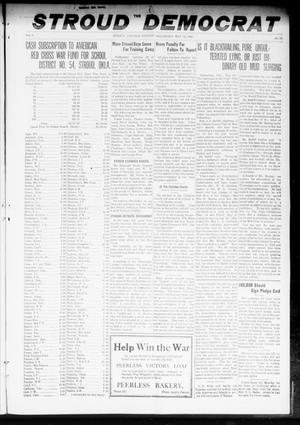 Primary view of object titled 'The Stroud Democrat (Stroud, Okla.), Vol. 8, No. 36, Ed. 1 Friday, May 31, 1918'.