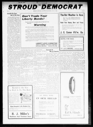 Primary view of object titled 'The Stroud Democrat (Stroud, Okla.), Vol. 8, No. 41, Ed. 1 Friday, July 5, 1918'.