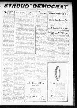 Primary view of object titled 'The Stroud Democrat (Stroud, Okla.), Vol. 8, No. 43, Ed. 1 Friday, July 19, 1918'.