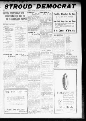 Primary view of object titled 'The Stroud Democrat (Stroud, Okla.), Vol. 8, No. 46, Ed. 1 Friday, August 9, 1918'.