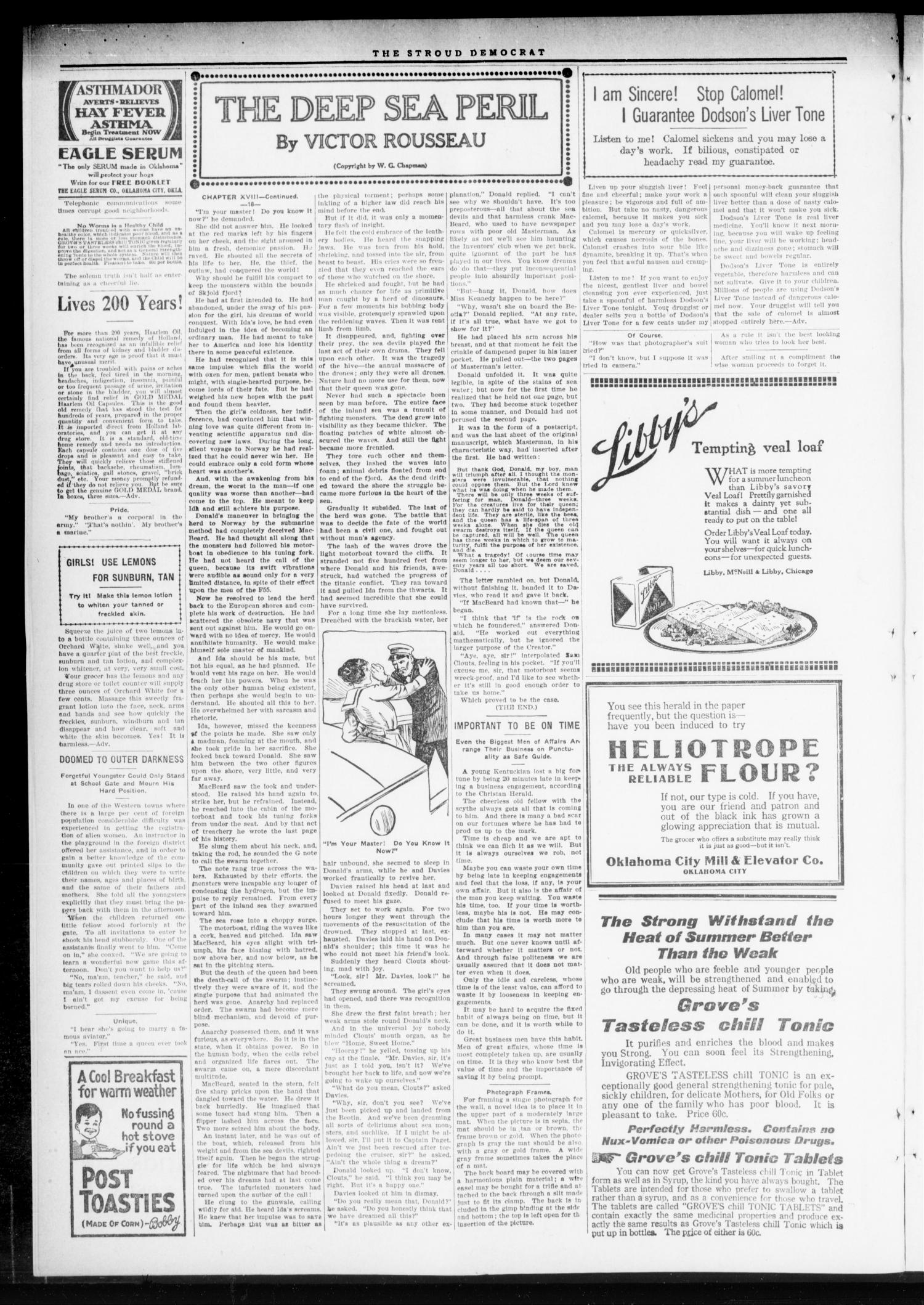 The Stroud Democrat (Stroud, Okla.), Vol. 8, No. 46, Ed. 1 Friday, August 9, 1918                                                                                                      [Sequence #]: 2 of 8