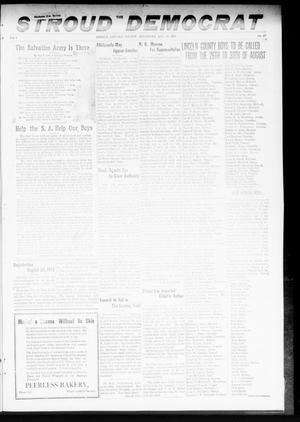 Primary view of object titled 'The Stroud Democrat (Stroud, Okla.), Vol. 8, No. 47, Ed. 1 Friday, August 16, 1918'.