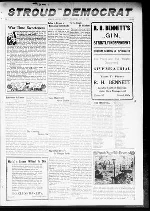 Primary view of object titled 'The Stroud Democrat (Stroud, Okla.), Vol. 8, No. 48, Ed. 1 Friday, August 23, 1918'.