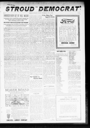 Primary view of object titled 'The Stroud Democrat (Stroud, Okla.), Vol. 9, No. 4, Ed. 1 Friday, October 18, 1918'.