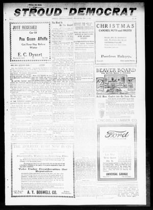 Primary view of object titled 'The Stroud Democrat (Stroud, Okla.), Vol. 9, No. 11, Ed. 1 Friday, December 6, 1918'.