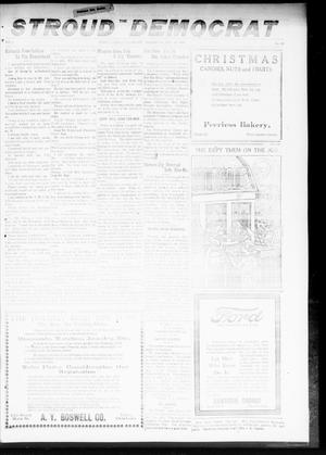 Primary view of object titled 'The Stroud Democrat (Stroud, Okla.), Vol. 9, No. 13, Ed. 1 Friday, December 20, 1918'.